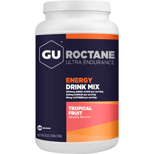 GU Energy Labs Roctane Energy Drink Mix (24-Serving Canister, Tropical Fruit)