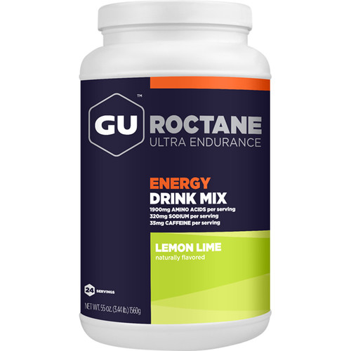 GU Energy Labs Roctane Energy Drink Mix (24-Serving Canister, Lemon Lime)