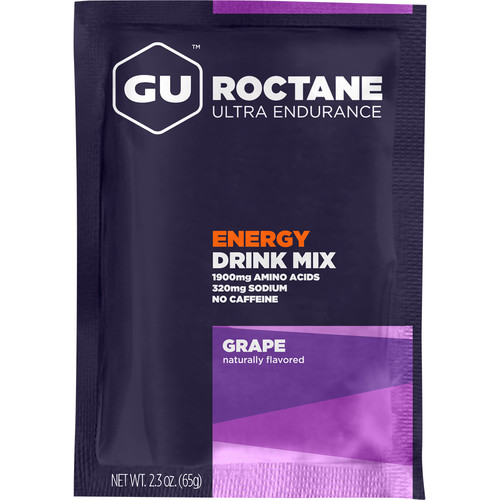 GU Energy Labs Roctane Energy Drink Mix (10-Pack Box, Grape)