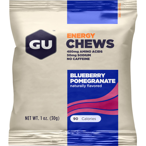 GU Energy Labs Energy Chews (24-Pack, Blueberry-Pomegranate)