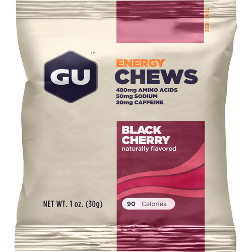 GU Energy Labs Energy Chews (24-Pack, Black Cherry)