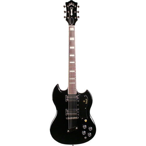 Guild Guitars S-100 Polara - Newark St. Collection - Electric Guitar with Premium Gig Bag (Black)