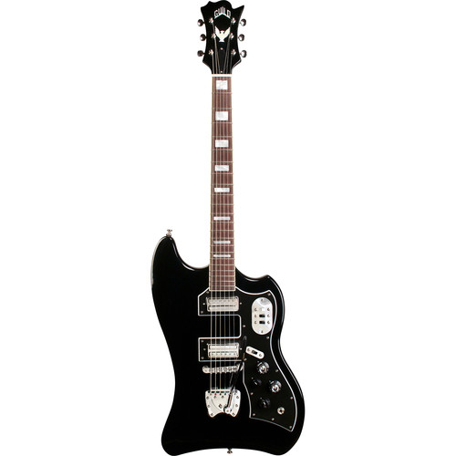 Guild Guitars S200 T-Bird - Newark St. Collection - Electric Guitar with Premium Gig Bag (Black)