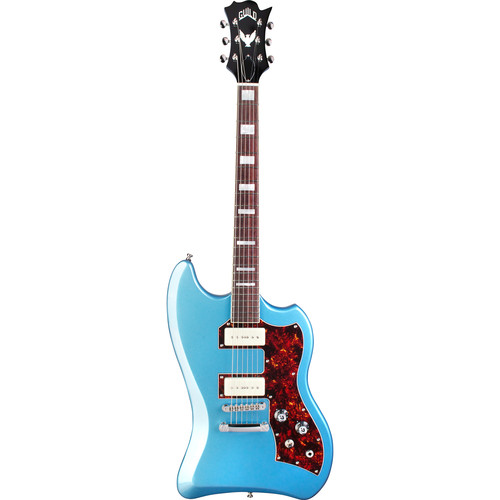 Guild Guitars T-Bird ST P90 - Newark St. Collection - Electric Guitar with Deluxe Gig Bag (Pelham Blue)