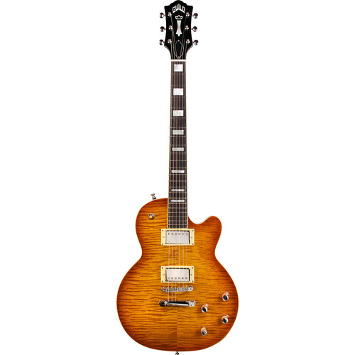 Guild Guitars Bluesbird - Newark St. Collection - Electric Guitar with Deluxe Gig Bag (Ice Tea Burst)