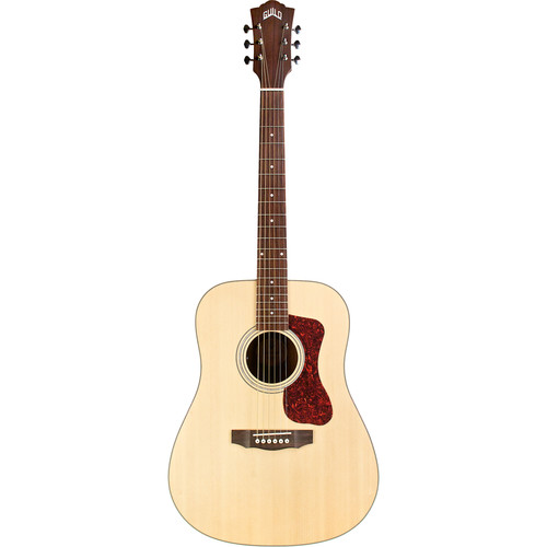 Guild Guitars D-240E Westerly Collection Dreadnought Acoustic/Electric Guitar with Deluxe Gig Bag (Natural)