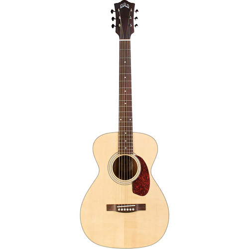 Guild Guitars M-240E Westerly Collection Concert-Style Acoustic/Electric Guitar with Deluxe Gig Bag (Natural)
