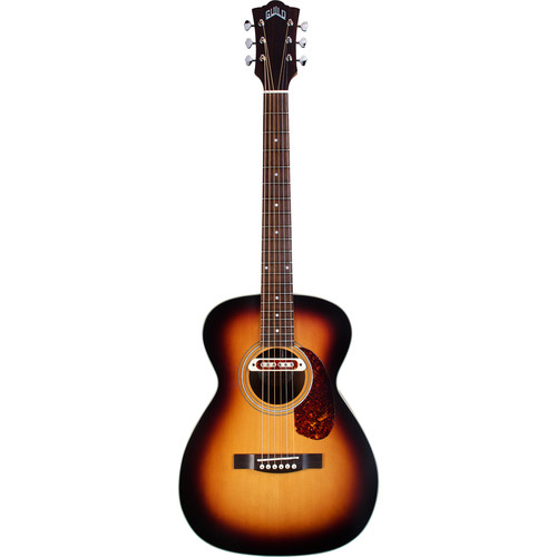 Guild Guitars M-240E Troubadour Westerly Collection Concert-Style Acoustic/Electric Guitar with Deluxe Gig Bag (Vintage Sunburst)