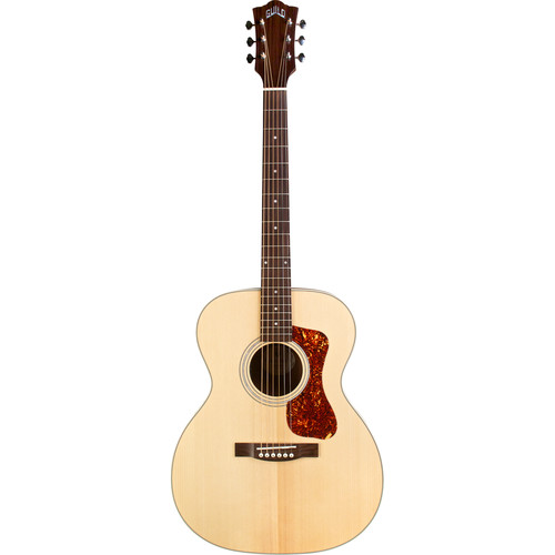 Guild Guitars OM-240E Westerly Collection - Acoustic/Electric Orchestra Guitar with Deluxe Gig Bag (Natural)