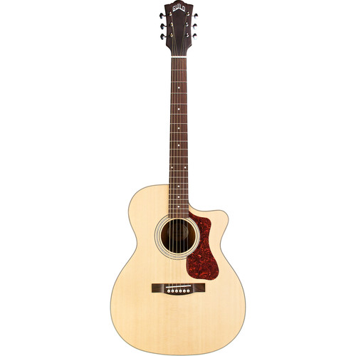 Guild Guitars OM-240CE Westerly Collection Orchestra-Style Acoustic/Electric Guitar with Deluxe Gig Bag (Natural)
