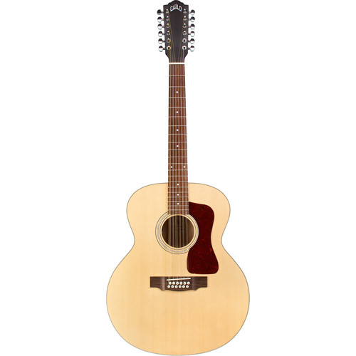 Guild Guitars F-2512E Maple Westerly Collection Jumbo 12-String Acoustic/Electric Guitar with Deluxe Gig Bag (Natural)
