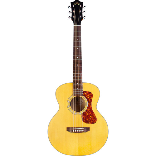 Guild Guitars Jumbo Junior Maple - Westerly Collection Acoustic/Electric Guitar with Deluxe Gig Bag (Blonde)