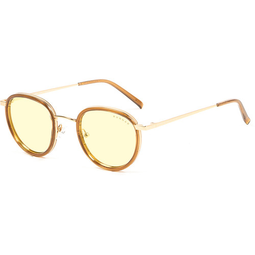 GUNNAR Atherton Computer Glasses (Satin Gold Frame, Amber Lens Tint)
