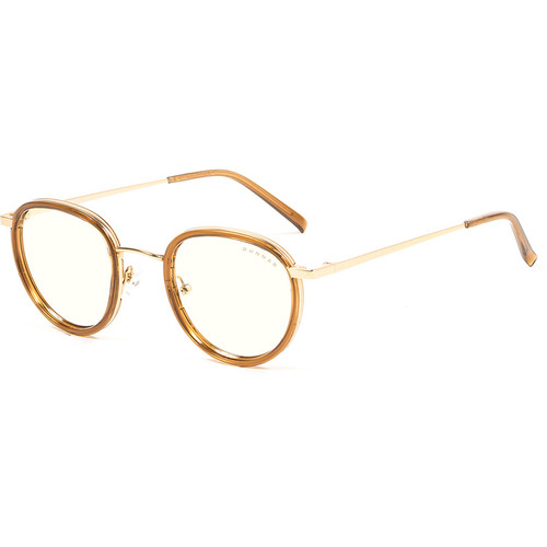 GUNNAR Atherton Computer Glasses (Satin Gold Frame, Liquet Lens Tint)