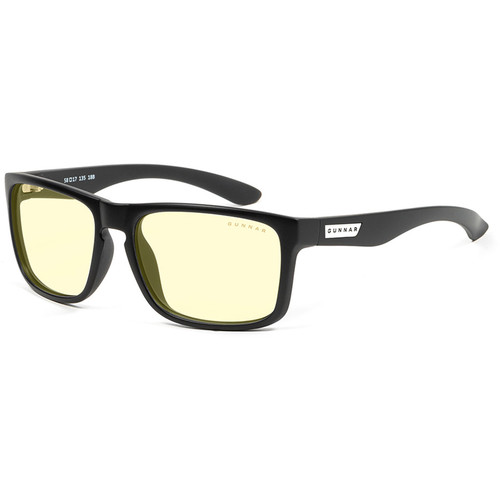 GUNNAR Intercept Gaming Glasses (Onyx Frame, Amber-React Lens Tint)