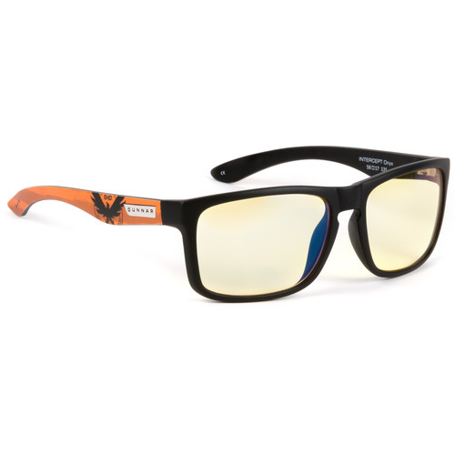 GUNNAR Intercept Gaming Glasses (Tom Clancy's The Division 2, Onyx Frame, Amber Lens Tint)