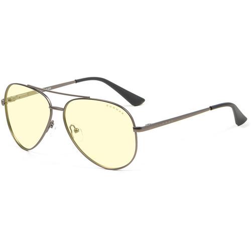GUNNAR Maverick Computer Glasses (Gunmetal Frame, Amber Lens Tint)