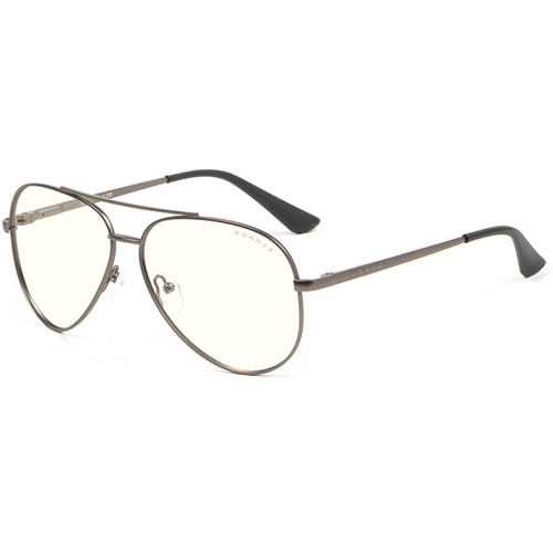 GUNNAR Maverick Computer Glasses (Gunmetal Frame, Clear Lens Tint)