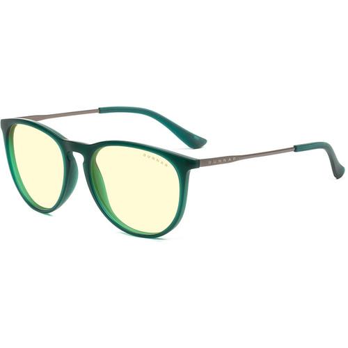 GUNNAR Menlo Computer Glasses (Emerald Frame, Amber Lens Tint)