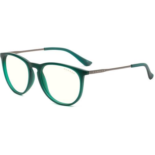 GUNNAR Menlo Computer Glasses (Emerald Frame, Clear Lens Tint)