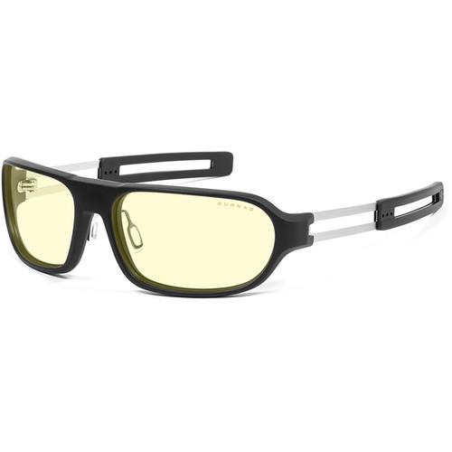 GUNNAR Trooper Gaming Glasses (Onyx Frame, Amber Lens Tint)