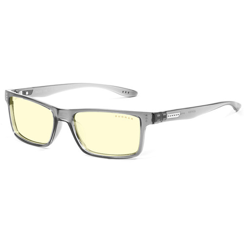 GUNNAR Vertex Gaming Glasses (Smoke Frame, Amber Lens Tint)