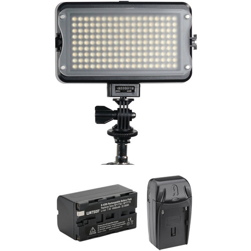 GVB Gear 162-LED Bicolor On-Camera Light Kit