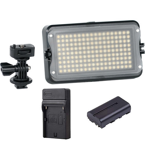 GVB Gear 162B On Camera Bicolor Light With Battery And Charger