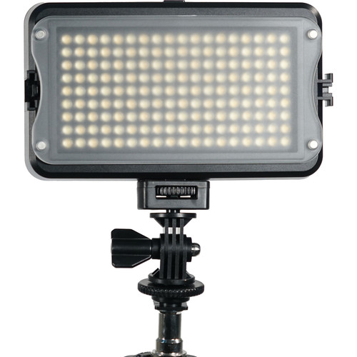GVB Gear 162 Bicolor On-Camera LED Light with LCD Display and Shoe Mount Adapter