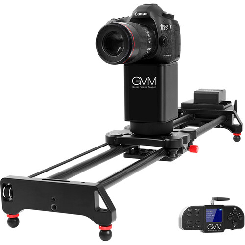"""GVM 2-Axis Wireless Professional Video Carbon Fiber Motorized Camera Slider (31"""" ) with Bluetooth Remote and Mobile App Control"""