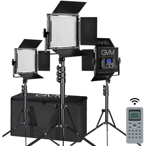 GVM 520S-B Bi-Color LED 3-Panel Kit