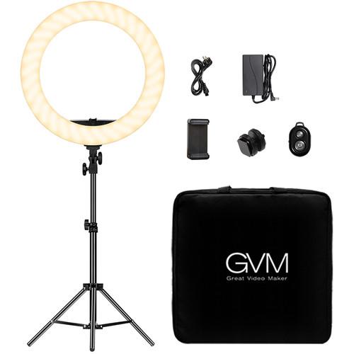 """GVM Bi-Color LED Ring Light (18"""")"""