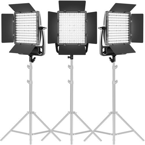 GVM LT100S Bi-Color LED 3-Light Panel