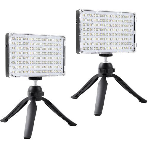 GVM Dual RGB-10S SMD LED Video Light Kit