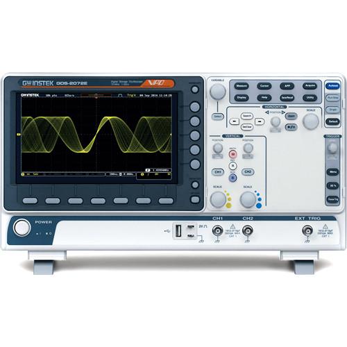 GW Instek 2-Channel Digital Oscilloscope with Extension (100 MHz)