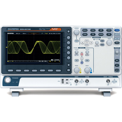 GW Instek 2-Channel Digital Oscilloscope with Extension (100 MHz)