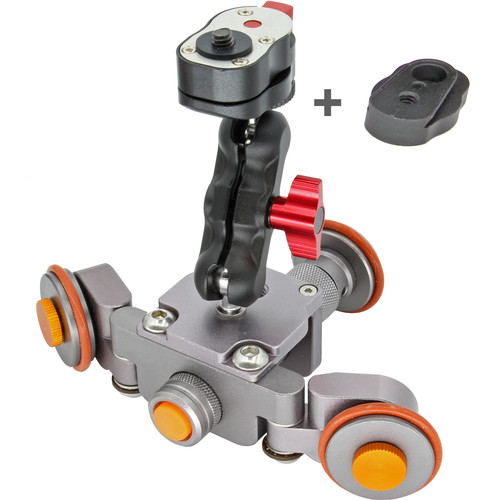 GyroVu Mini Motorized Dolly with Mini Swivel Mounts & Dual Quick Release System