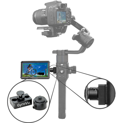 "GyroVu Lightweight 5"" On-Camera HDMI Monitor with 360° Swivel Mount for DJI Ronin-S"
