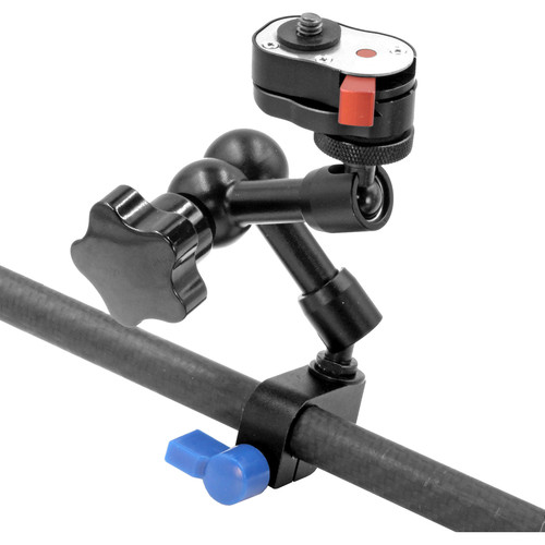 """GyroVu Articulated Quick-Release Arm Mount with 15mm Clamp for Camera Rig (7"""")"""