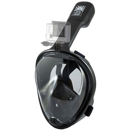 H2O Ninja Full Face Snorkeling Mask GoPro Edition (L/XL, Black)
