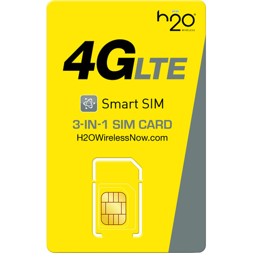 H2O WIRELESS 3-in-1 SIM Card