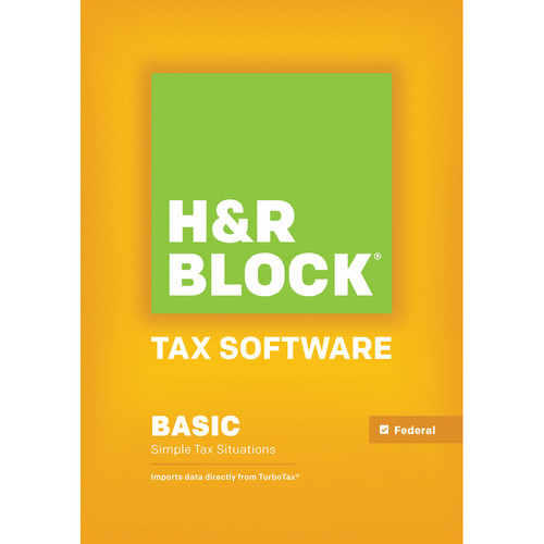H&R Block Basic 2013 Tax Software for Windows (Download)