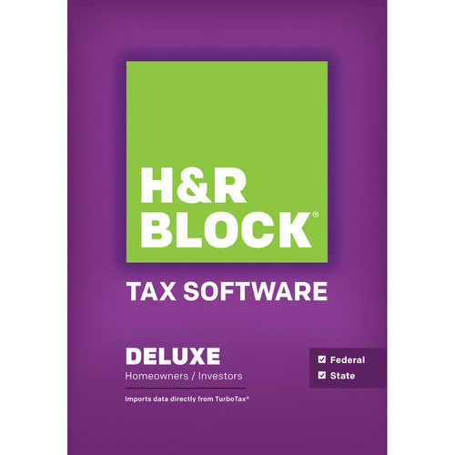 H&R Block Deluxe 2013 Federal + State Tax Software for Windows (Download)