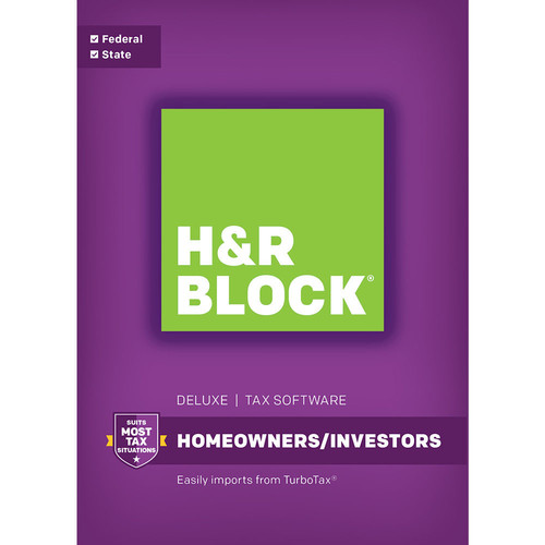 H&R Block 16 Deluxe + State (Download, Mac)