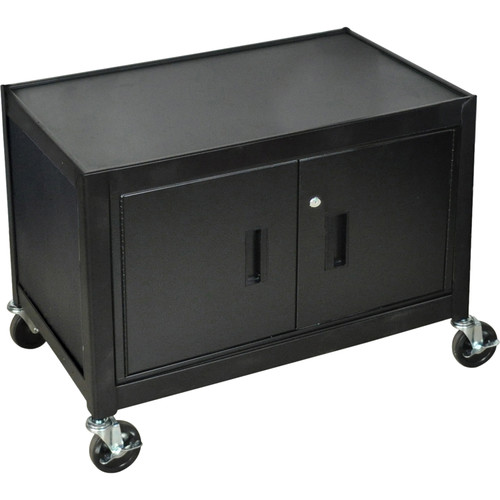 "H. Wilson 29"" Steel Mobile Cabinet (Black)"