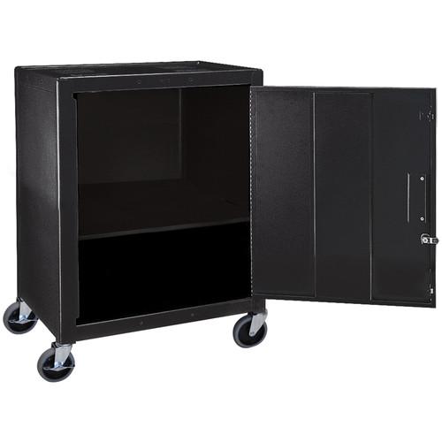 "H. Wilson 34"" Steel Mobile Cabinet (Black)"
