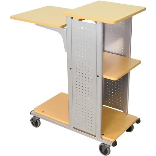 H. Wilson Presentation Station <b>with Fixed Shelf</b> (Aspen/Silver)