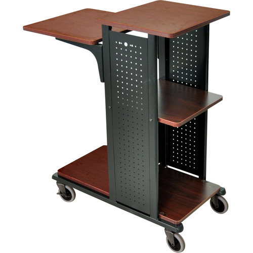H. Wilson Presentation Station <b>with Fixed Shelf</b> (Cherry/Black)