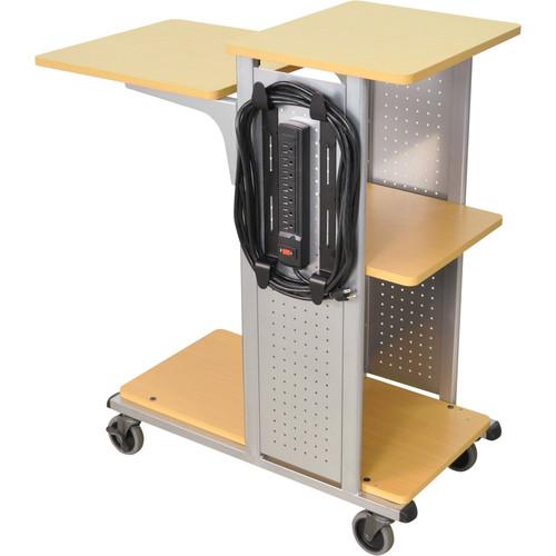 H. Wilson Presentation Station <b>with Power & Shelf</b> (Aspen/Silver)