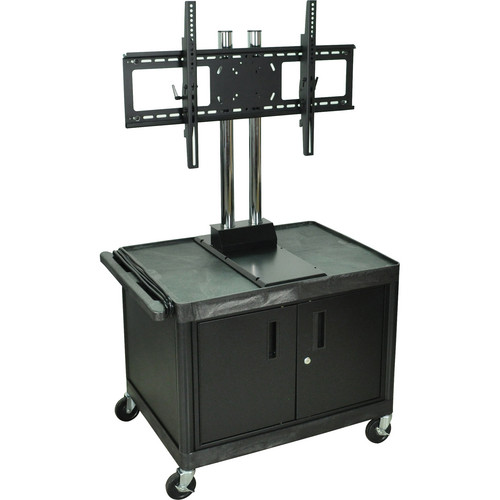 H. Wilson WPTV28C2E Mobile Cart with WFST Universal LCD TV Mount & Cabinet (Black)